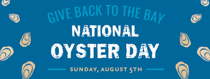 Maryland, Virginia and D.C. Restaurants to Give Back to the Bay on National Oyster Day
