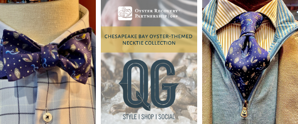 Chesapeake Bay Oyster-Themed Neckwear Collection: Collaboration with the QG