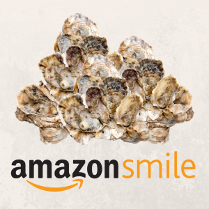 Amazon Smile logo with oysters