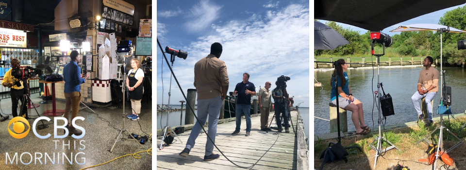 CBS This Morning Oyster Story - Behind the scenes filming